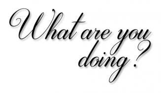 ทำอะไรอยู่ประโยคง่ายๆแต่สามารถใช้ได้หลายแบบ